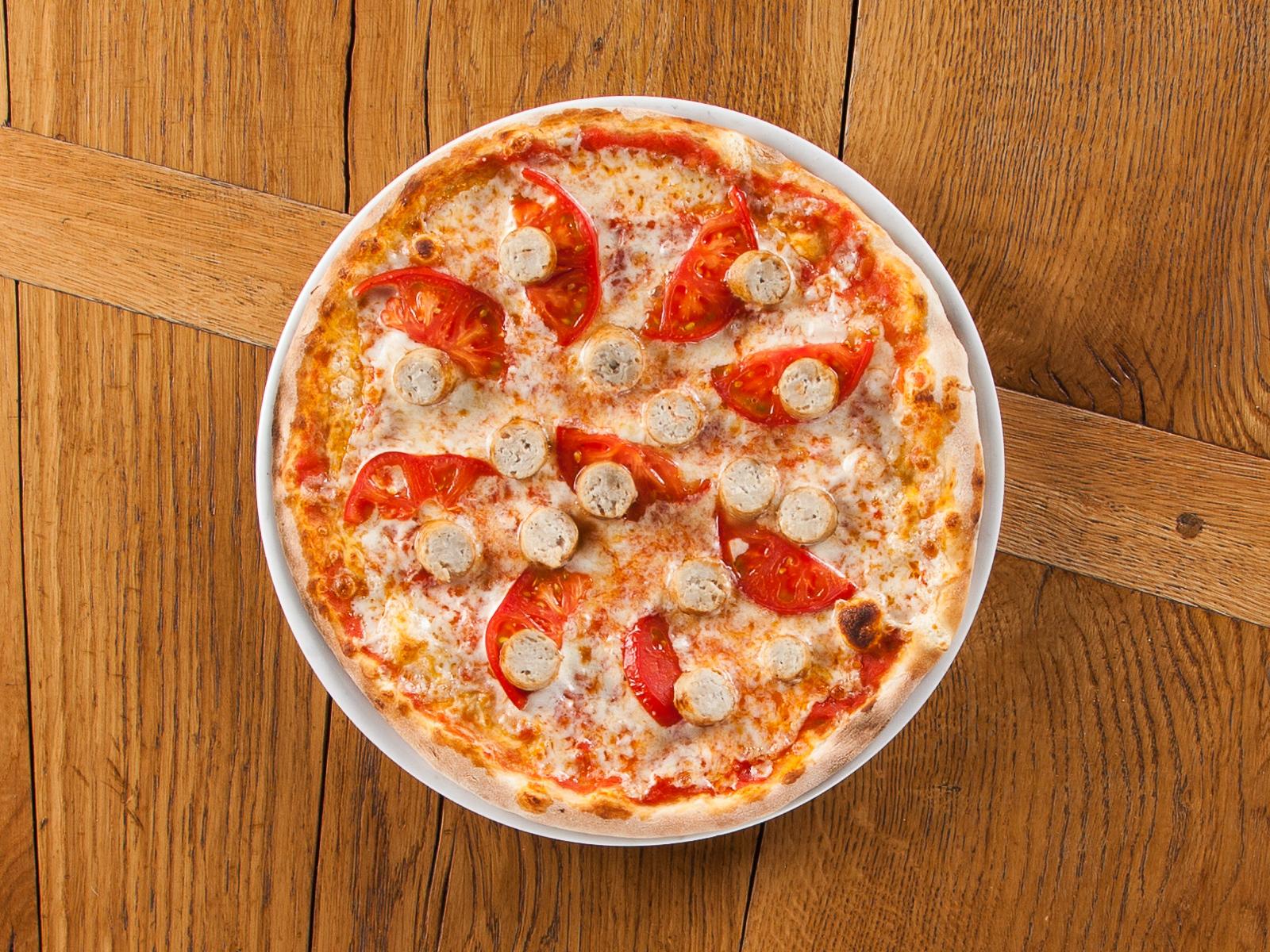 Пицца Маргарита с индейкой