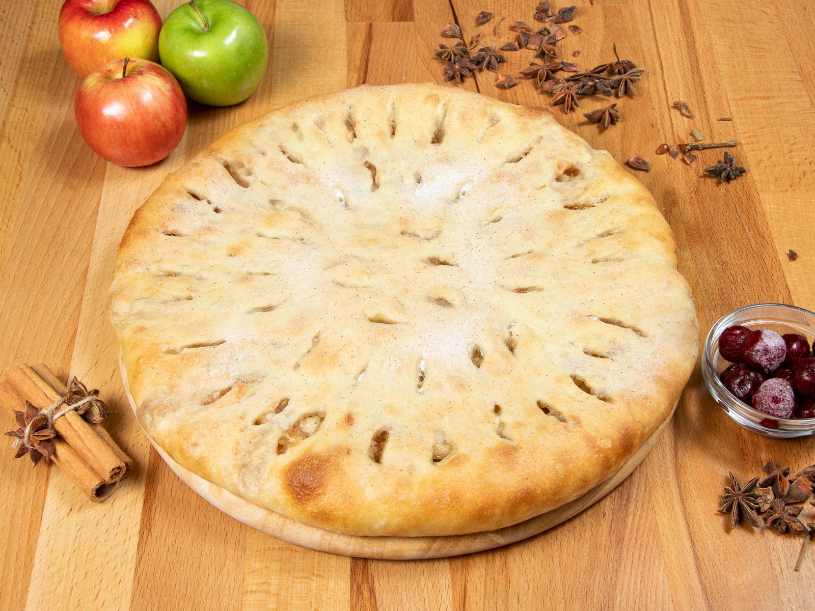 Осетинский пирог яблочный с корицей