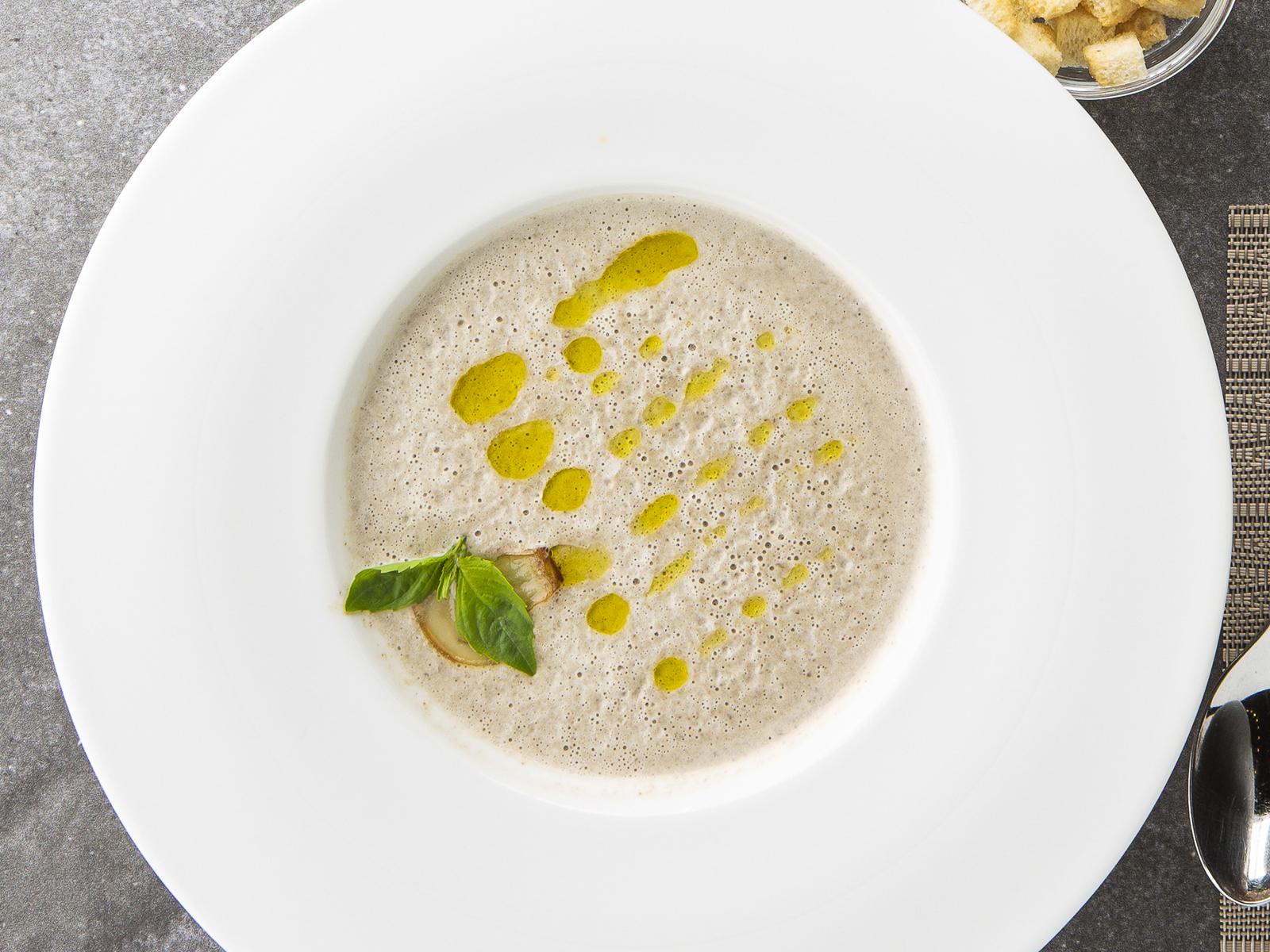 Крем-суп Грибной с гренками