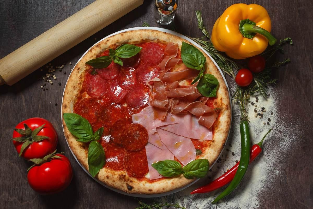 Пицца Кватро салями