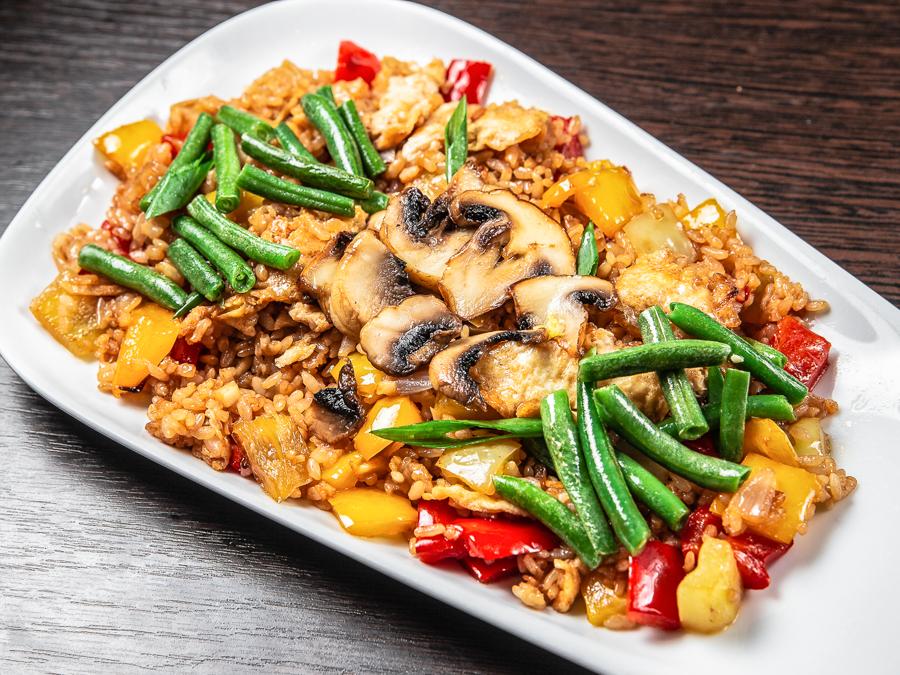 Теппаньяки Рис с овощами