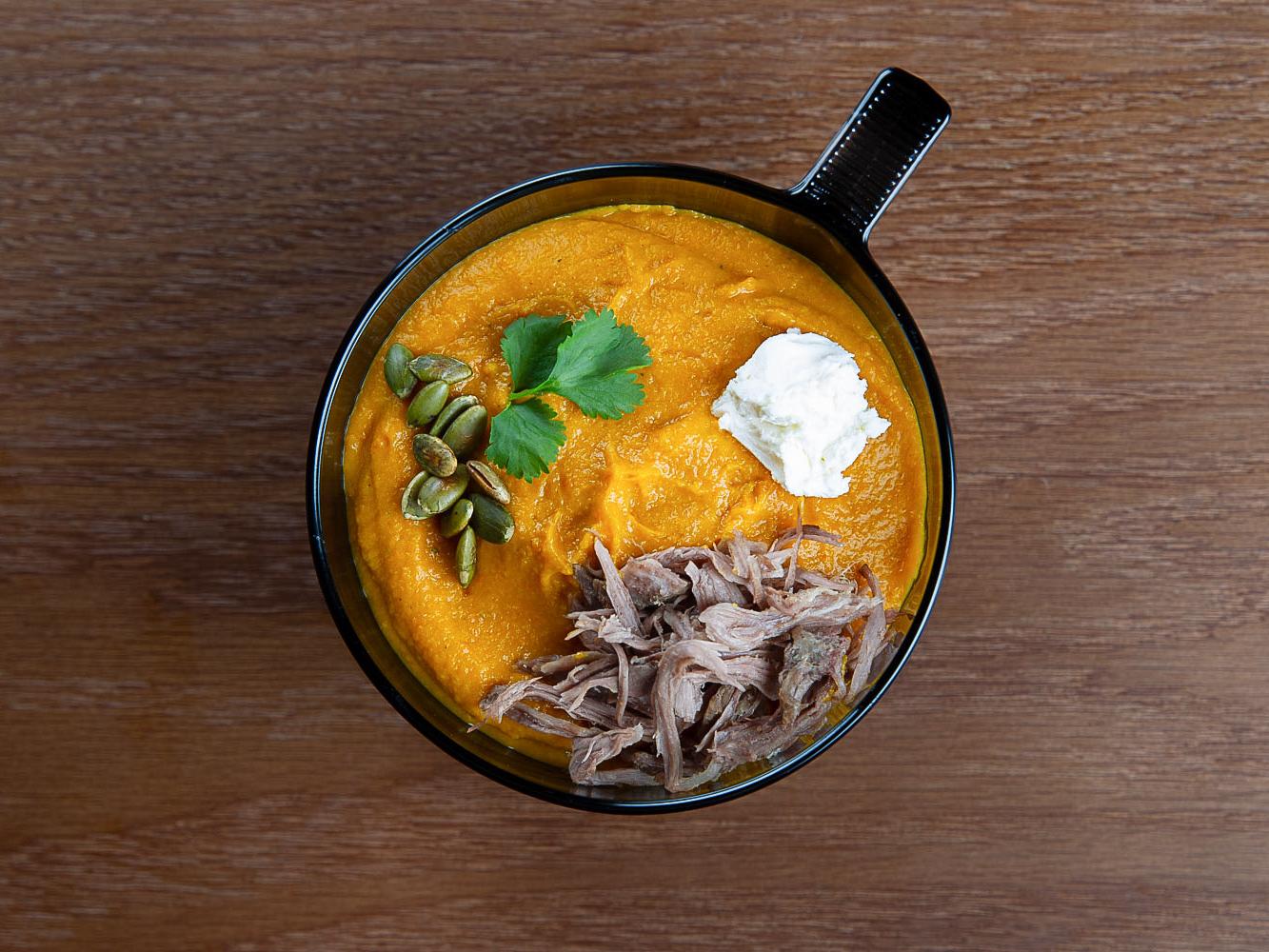 Заряженный крем-суп из тыквы