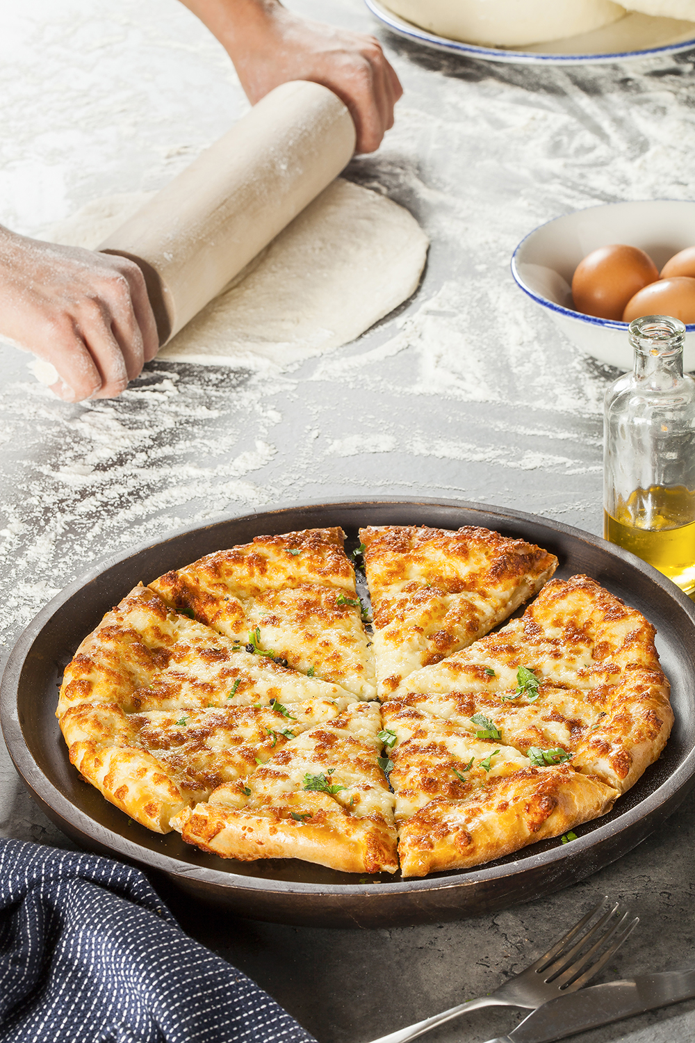 Пирог с картофелем и сыром сулугуни