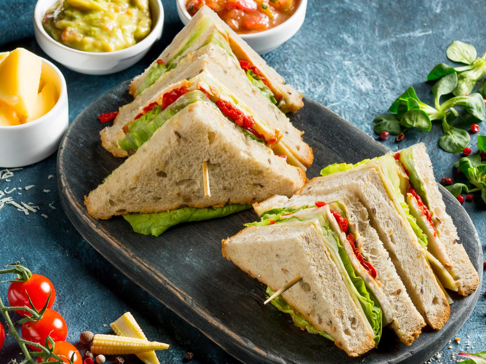 Холодный сэндвич с индейкой
