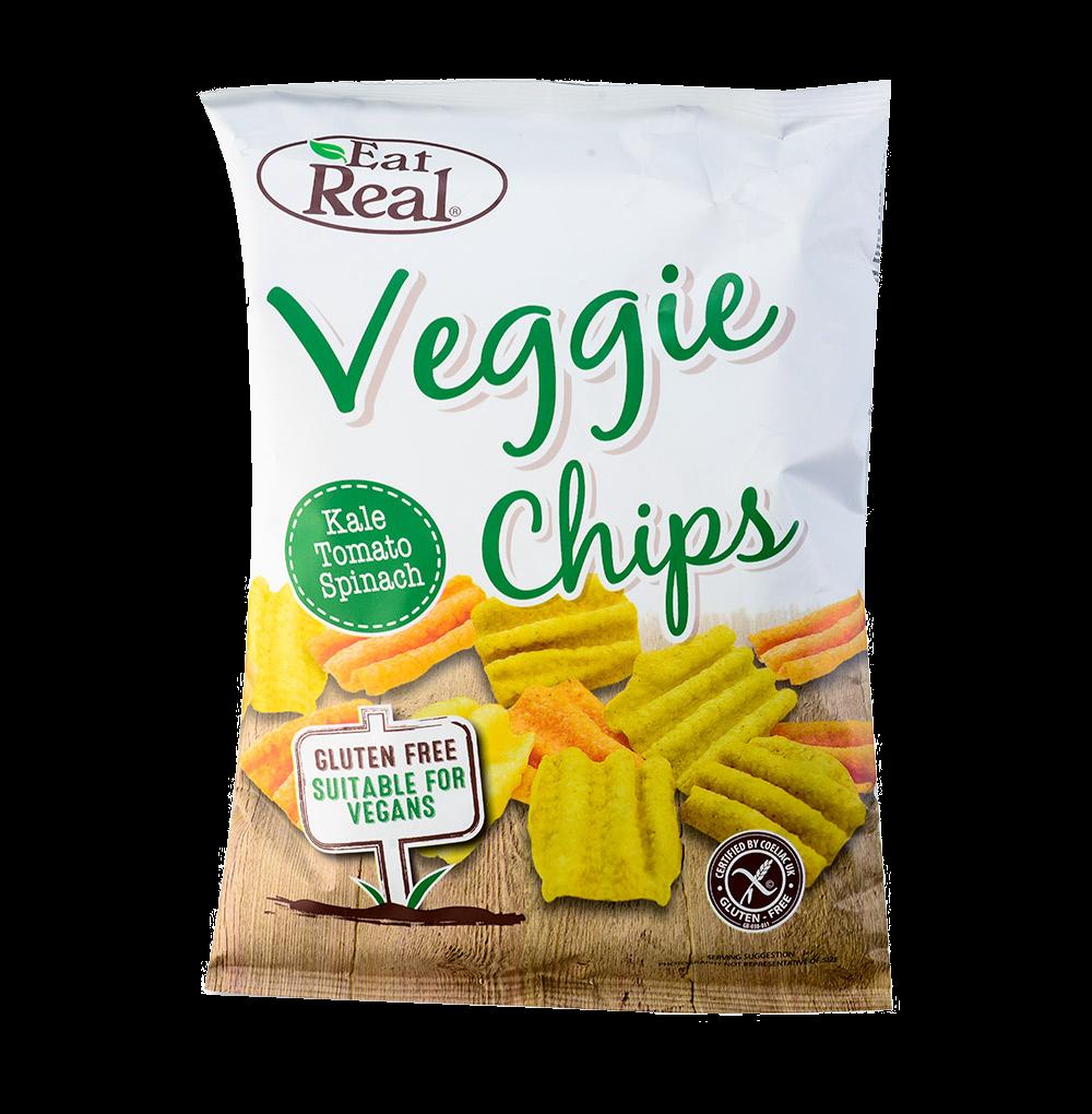 Чипсы овощные Eat Real с капустой Кейл, томатом, шпинатом и картофелем