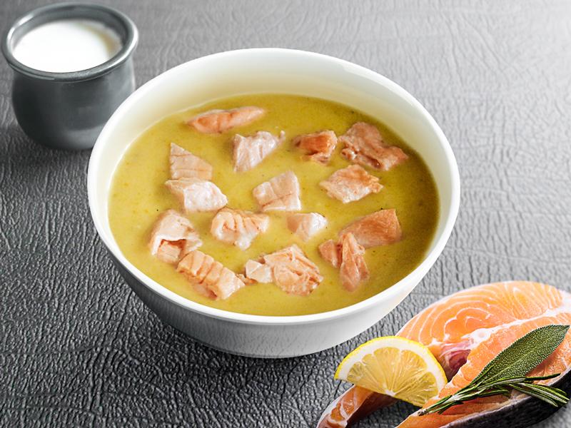 Сливочный суп Чаудер с лососем