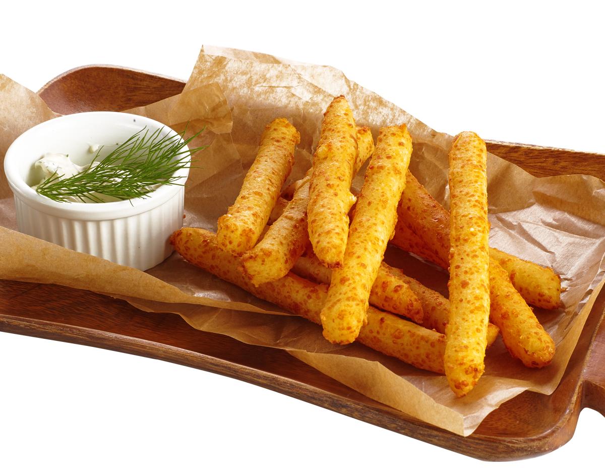 Сырный хворост с чесночным соусом