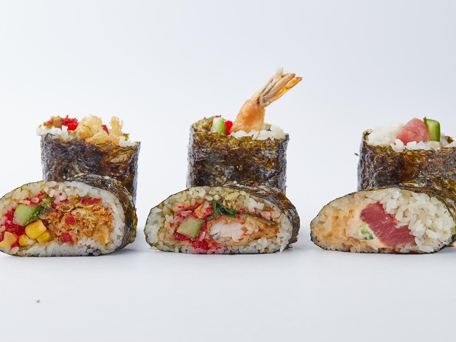 Суширитто с креветками в темпуре