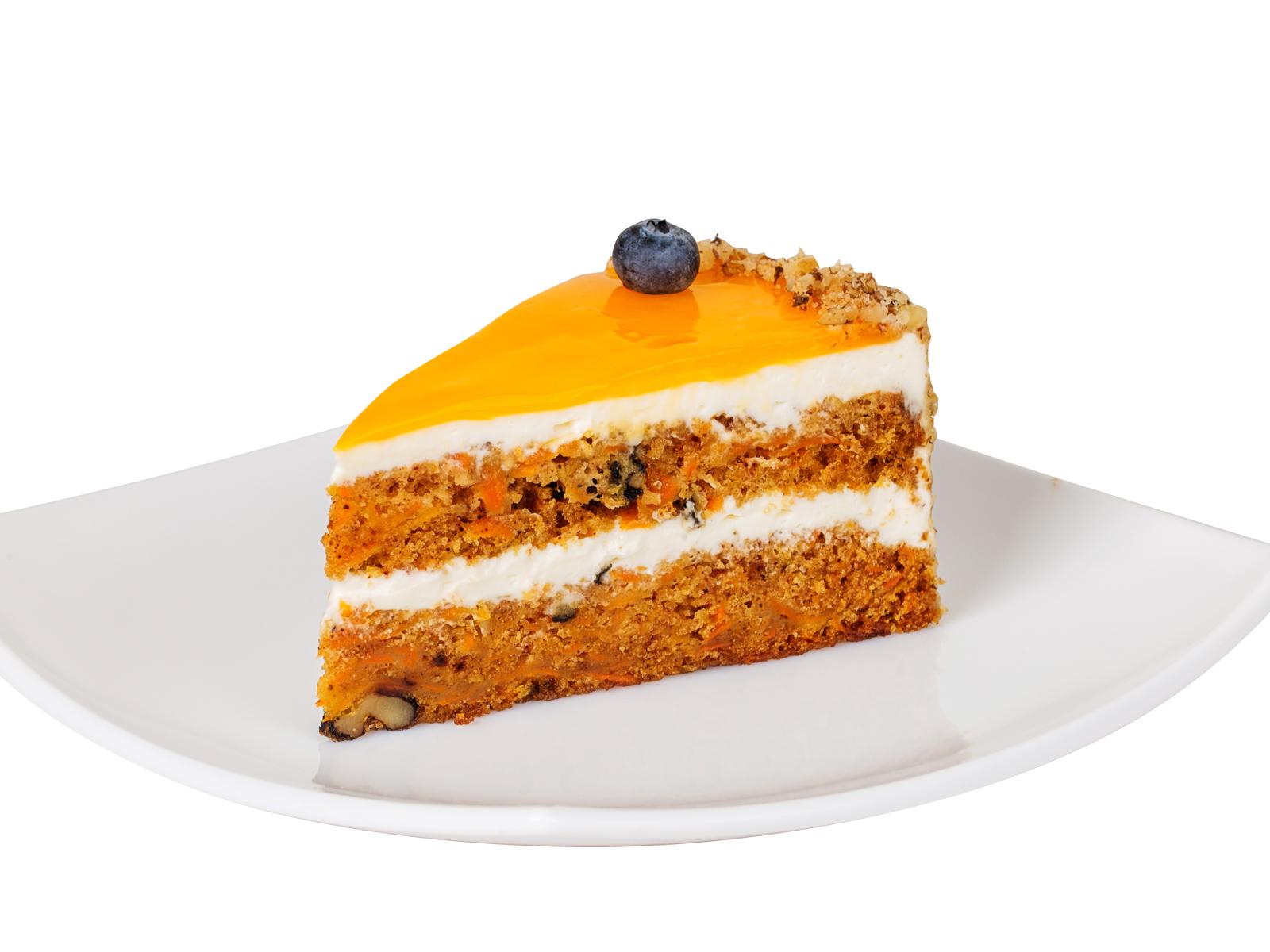 Порция Морковного торта с грецким орехом