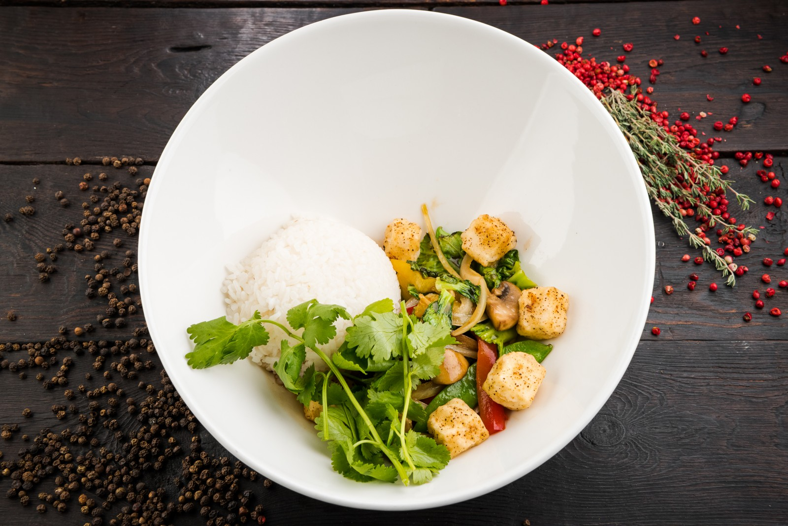 Овощи в сычуаньском соусе