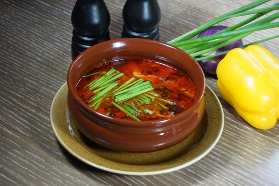 Острый суп с бараниной