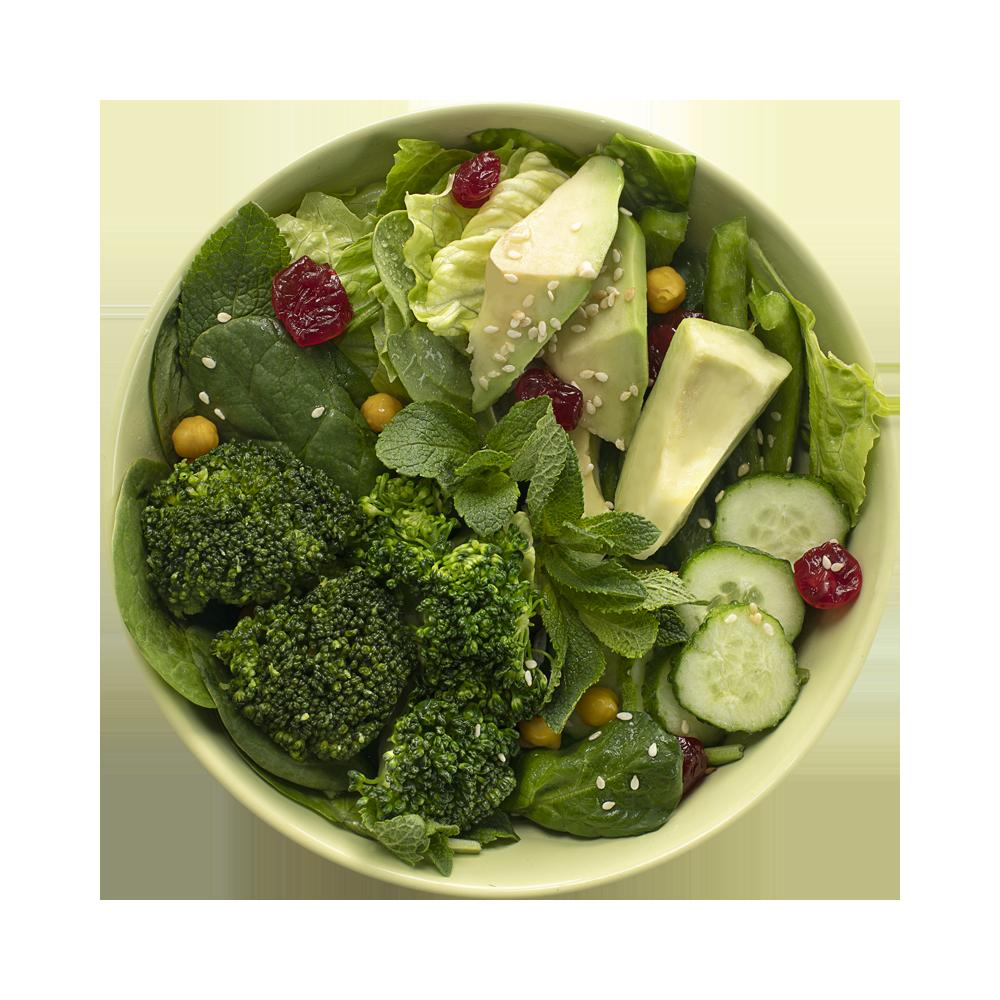 Салат-боул Детокс с авокадо, брокколи и свежей мятой