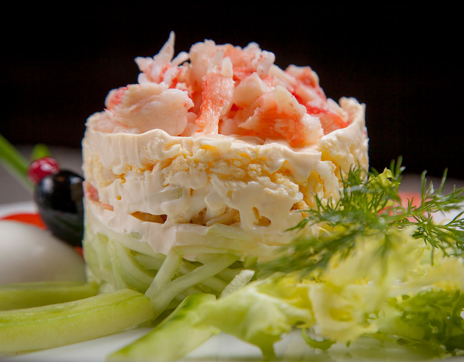 Традиционный крабовый салат