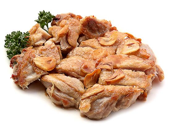 Курица с чесночным соусом