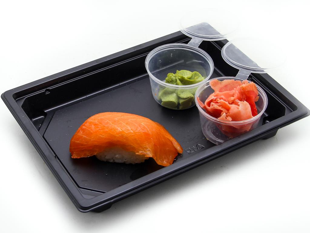 Суши с подкопченным лососем