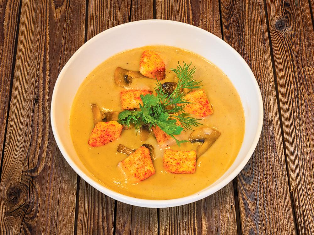Крем суп грибной с крутонами