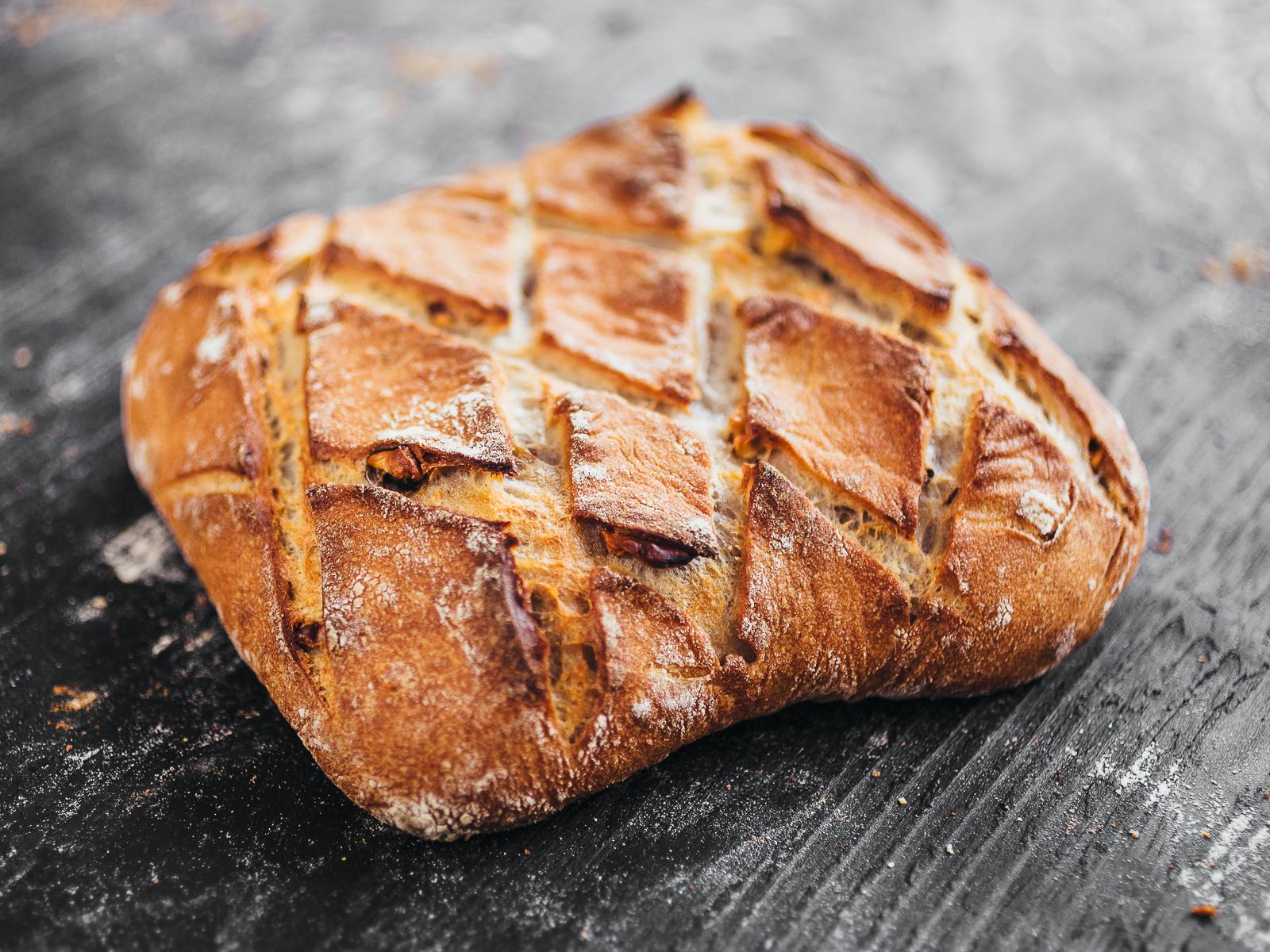 Хлеб Бездрожжевой с орехами
