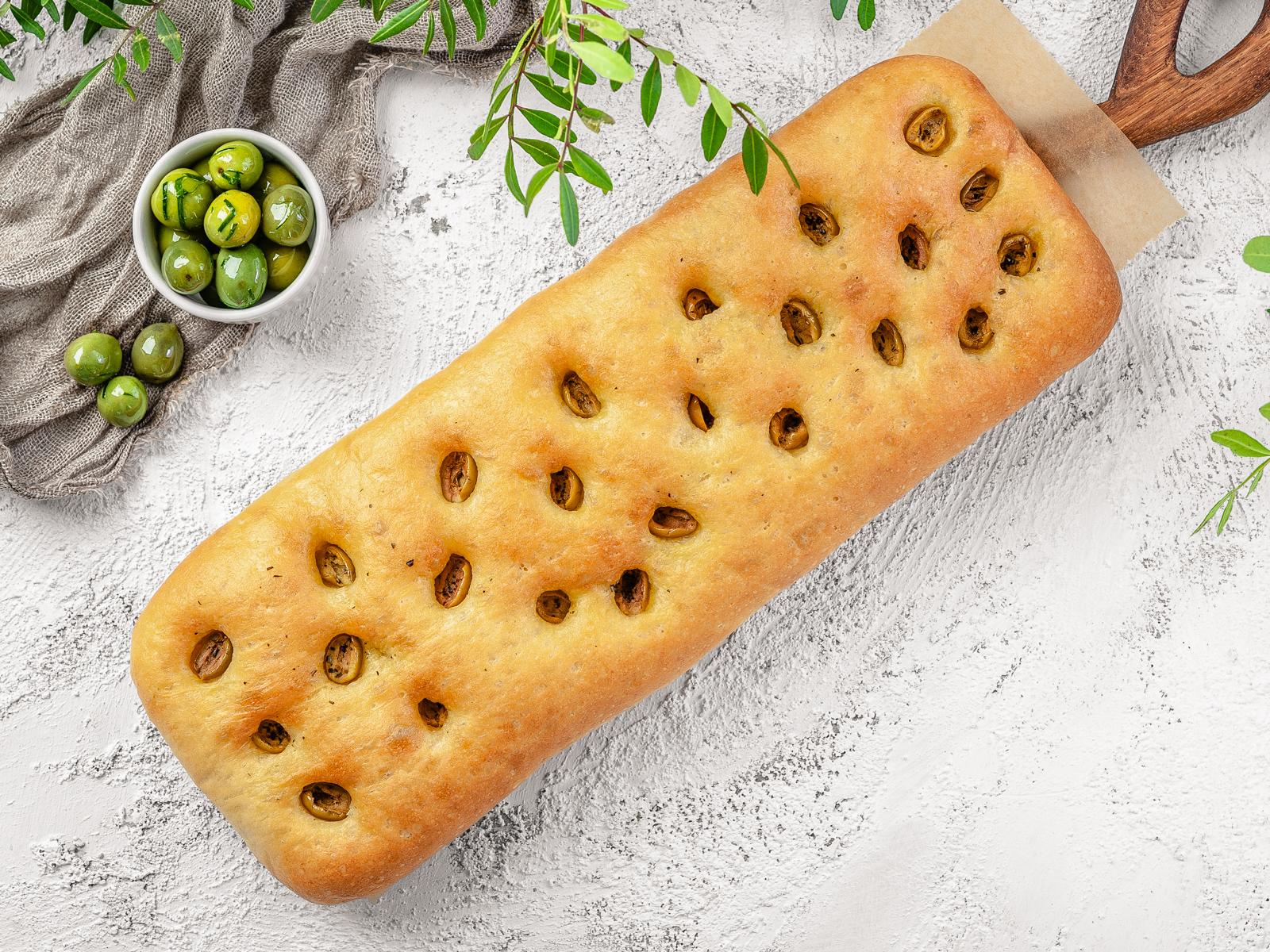 Чиабатта с маслинами и оливками