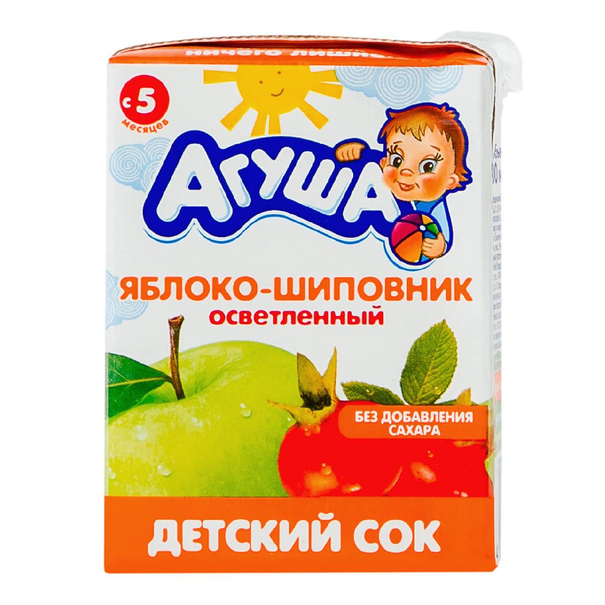 «Агуша» яблоко-шиповник
