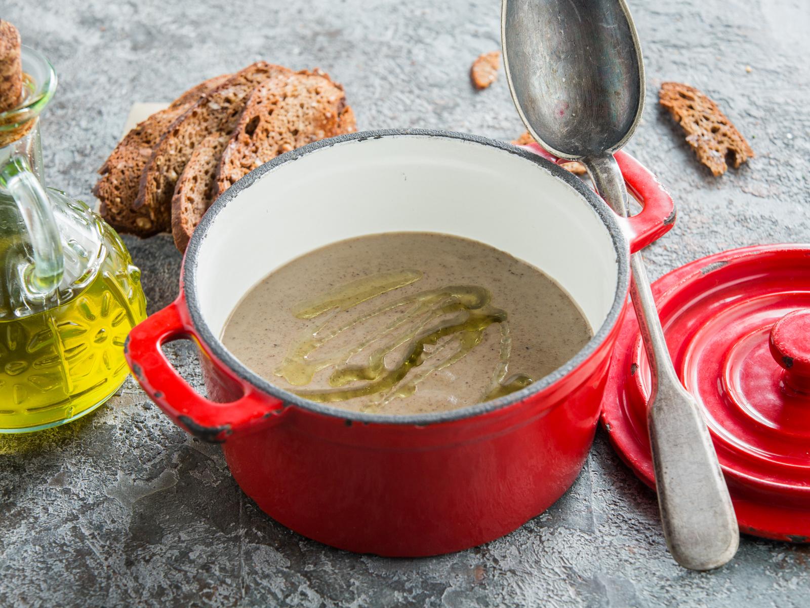 Грибной крем суп с лесными грибами