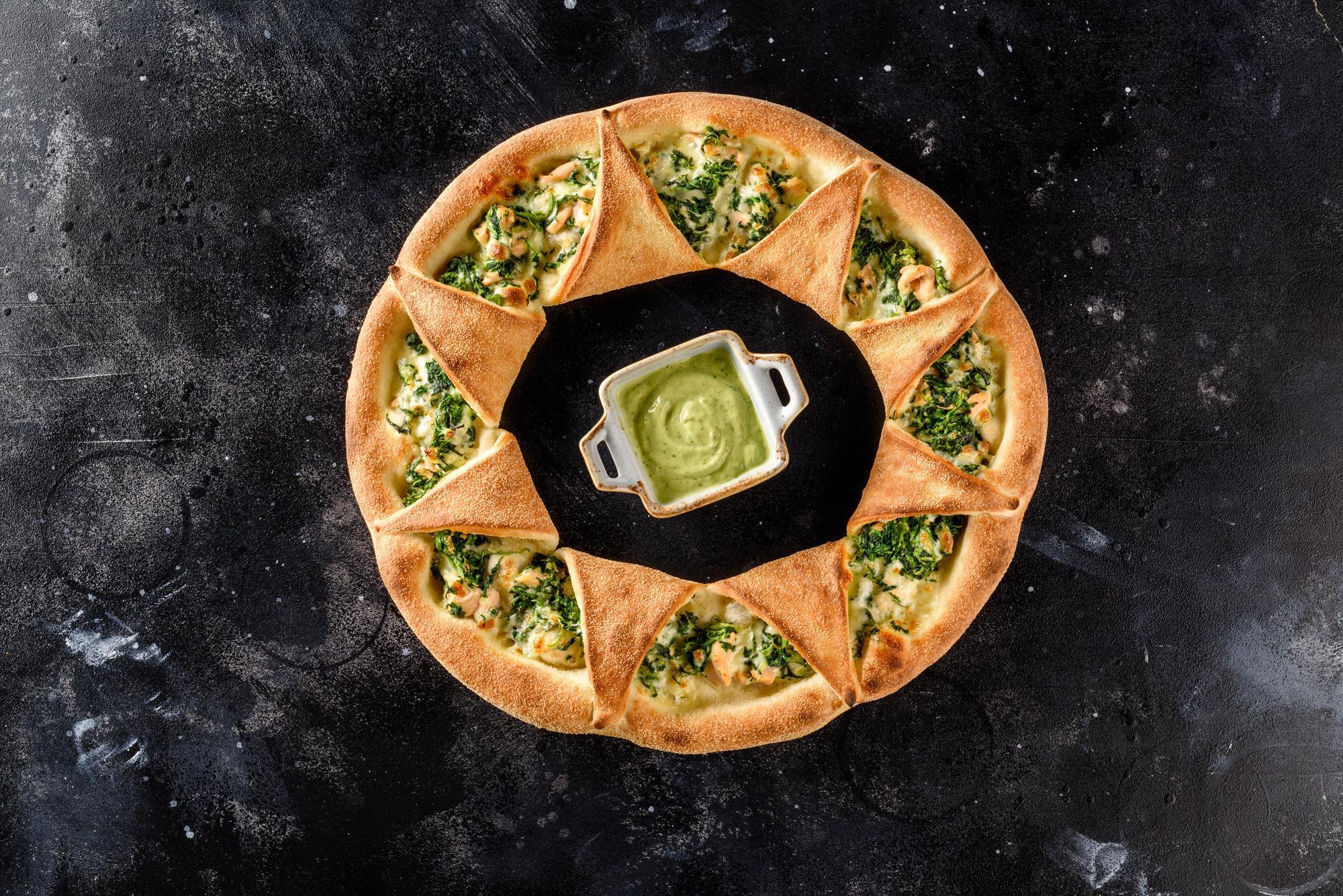 Пиццанелло Лосось-Шпинат