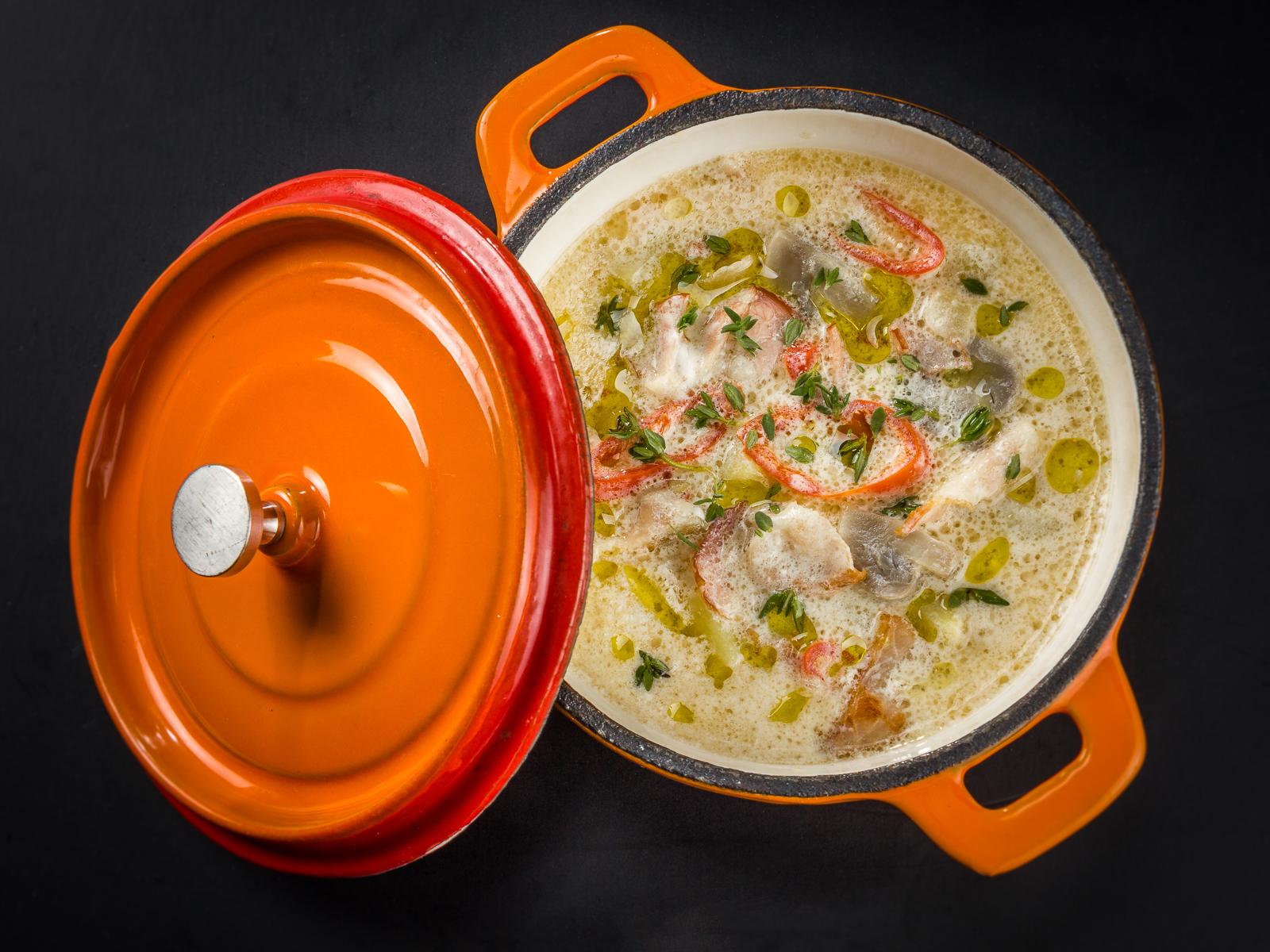 Суп сливочный с беконом