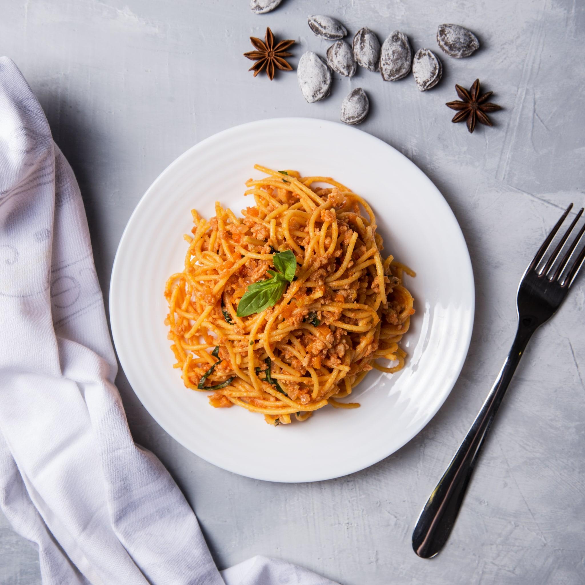 Спагетти болоньезе VEGAN