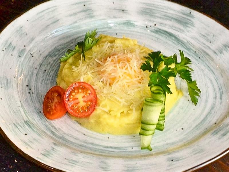 Картофельное пюре с сыром Пармезан