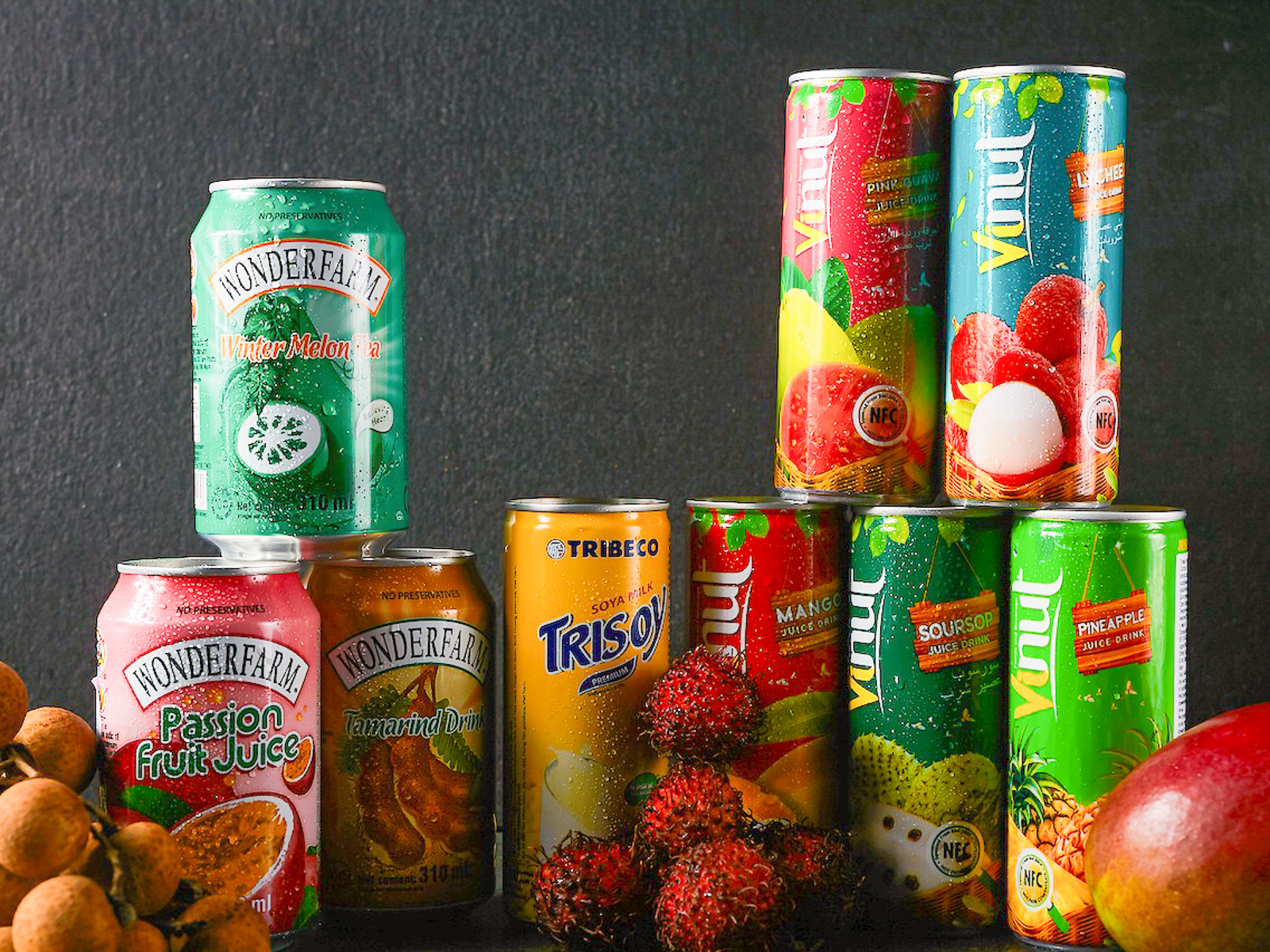 Напитки из соков тропических фруктов
