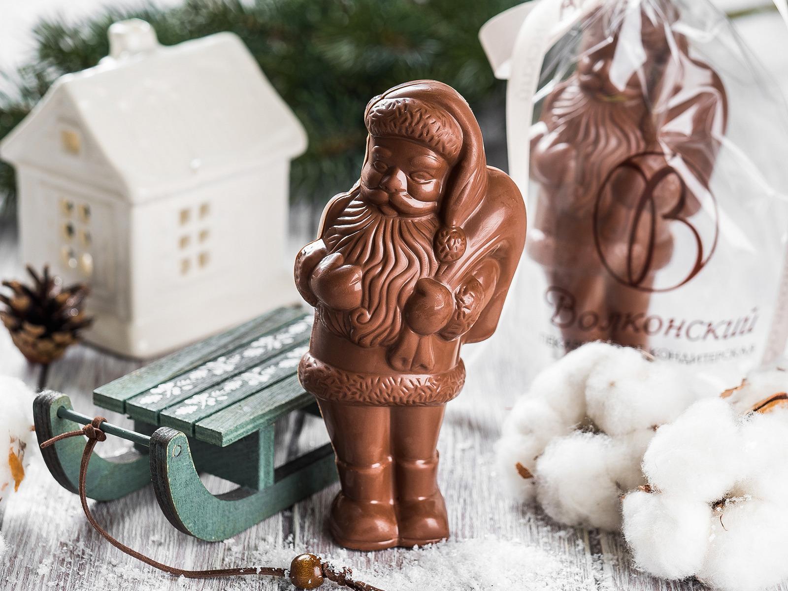 Фигурка малая Санта из молочного шоколада