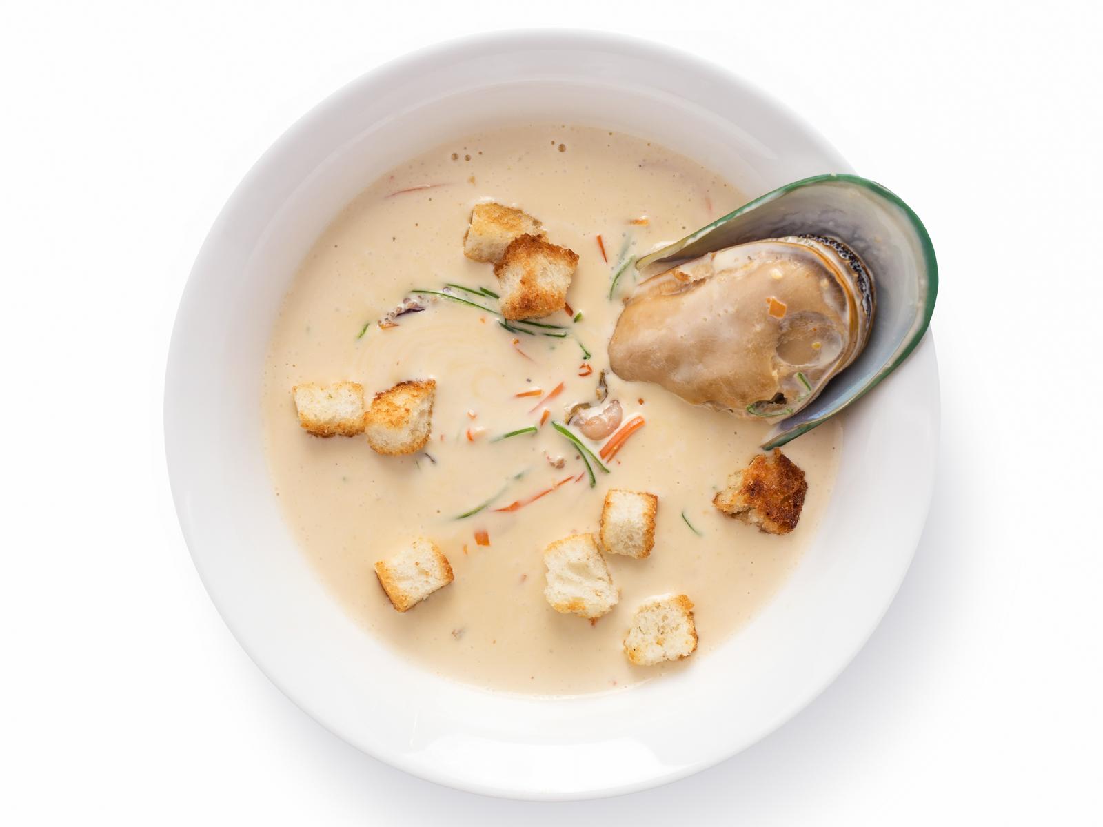 Крем-суп с море продуктами