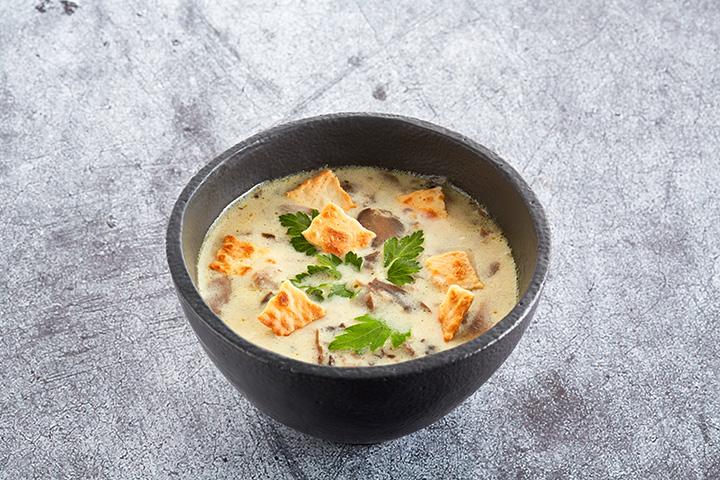 Суп грибной с чипами