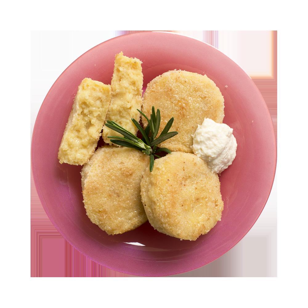 Котлеты картофельные с луком жареные
