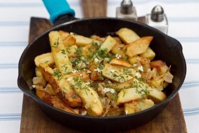 Жареная картошка со шкварками