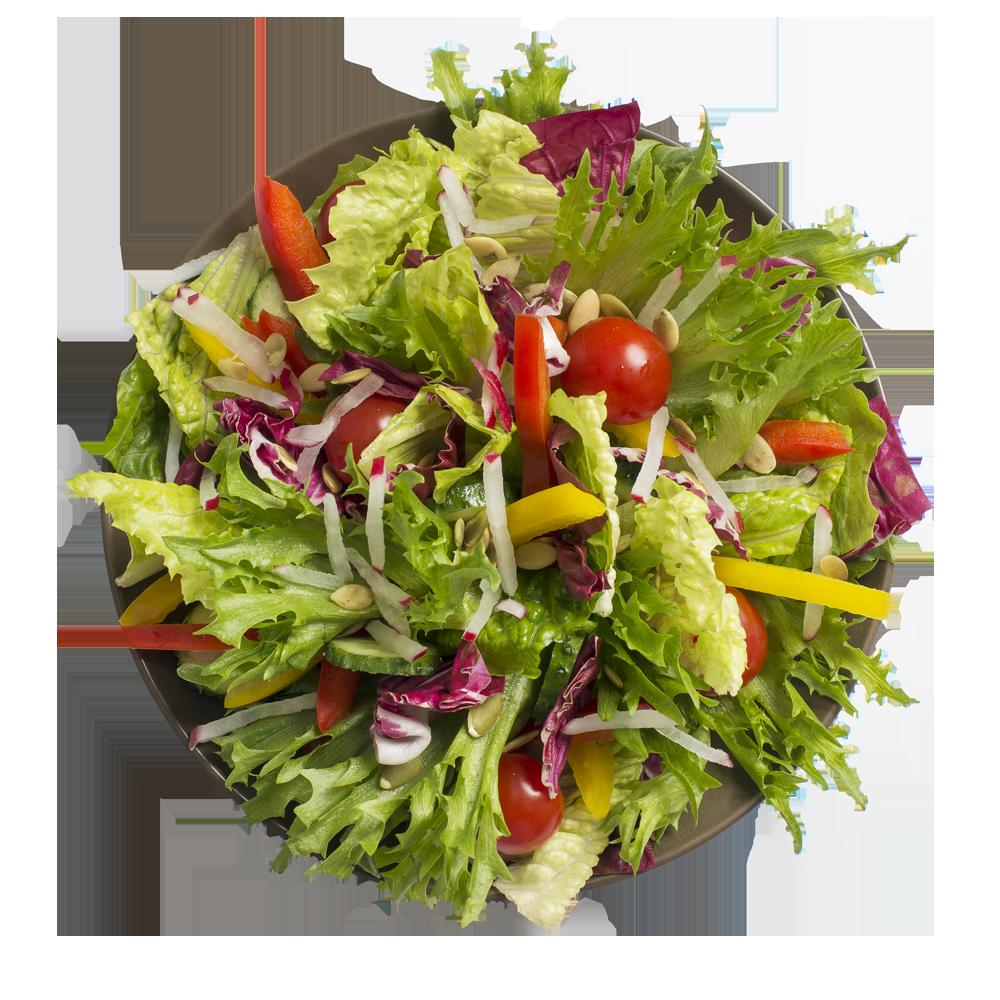 Салат-боул из свежих овощей с семенами тыквы