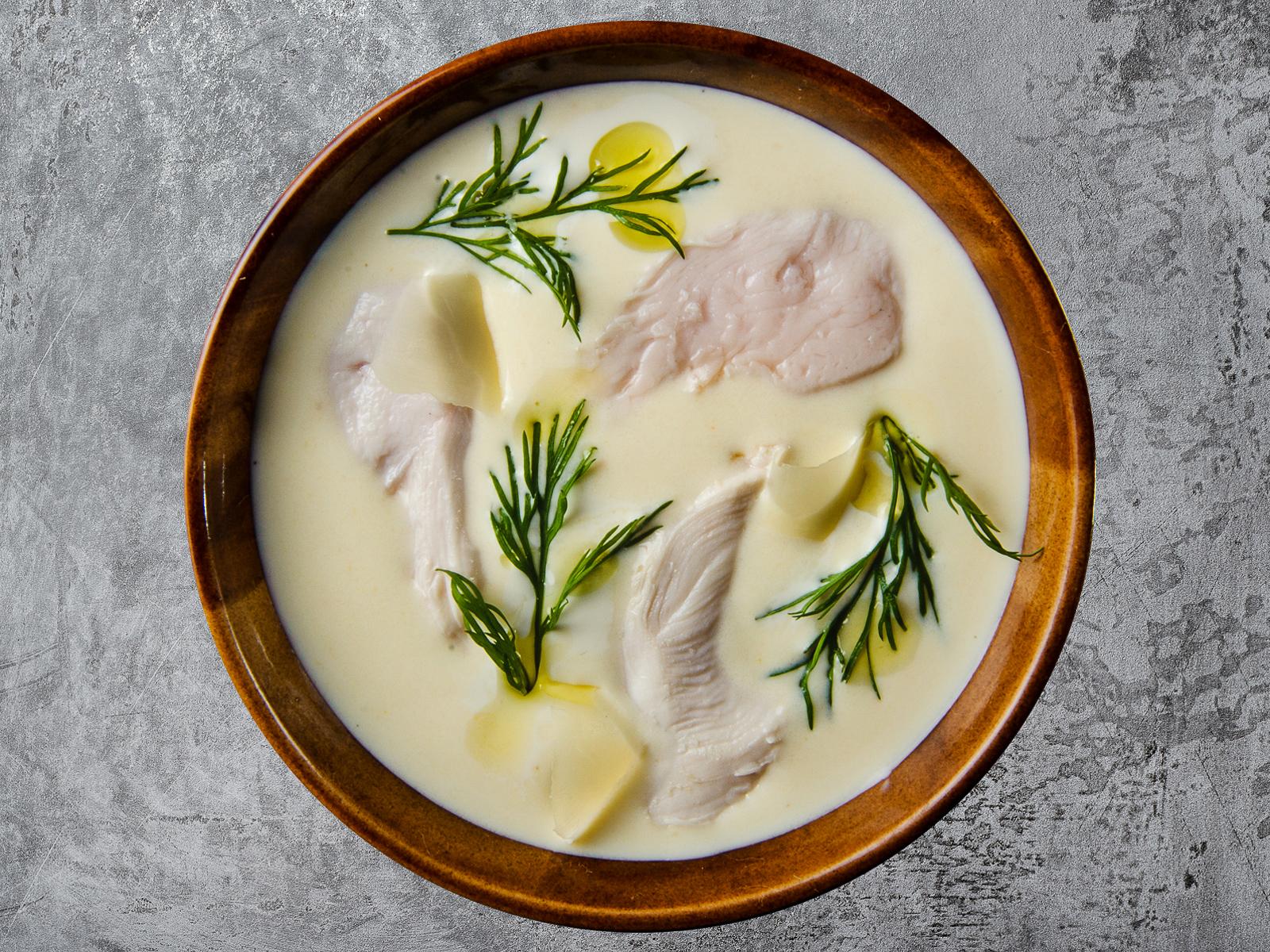 Сливочно-сырный крем-суп