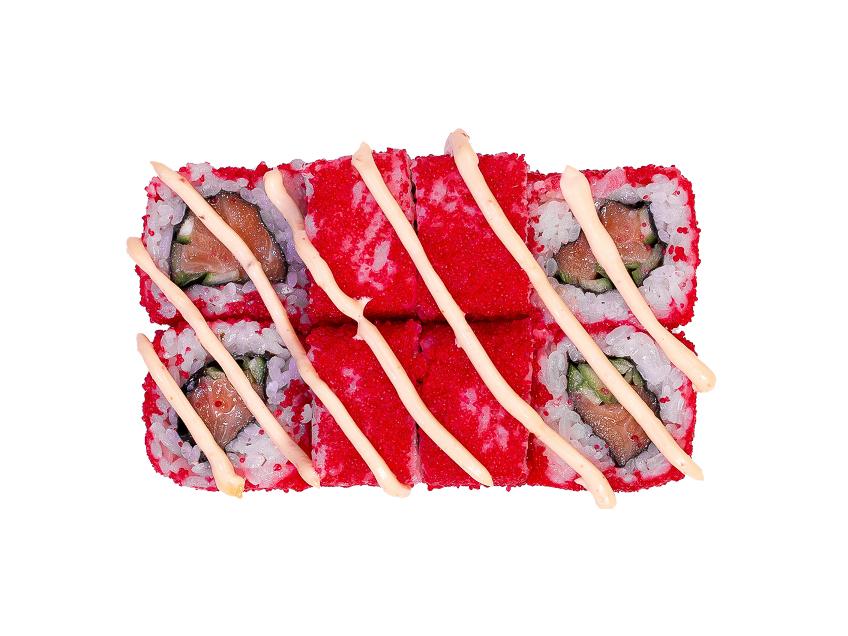Ролл Калифорния с лососем