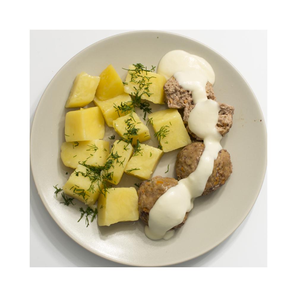 Клопсы с отварным картофелем
