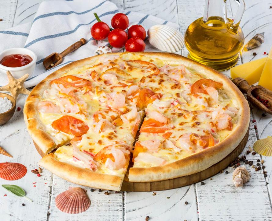 Пицца Морская с двойной начинкой