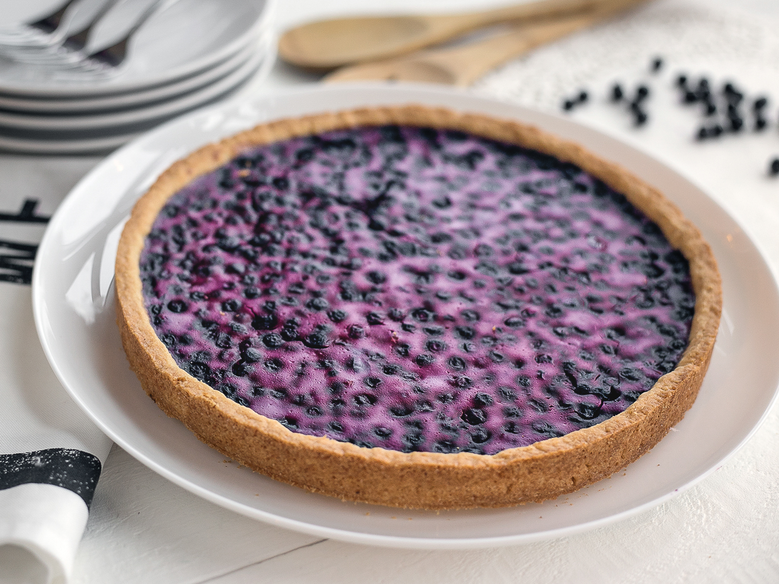 Пирог сладкий Финский черничный