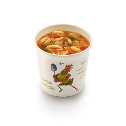 Мясной итальянский суп с кавателли