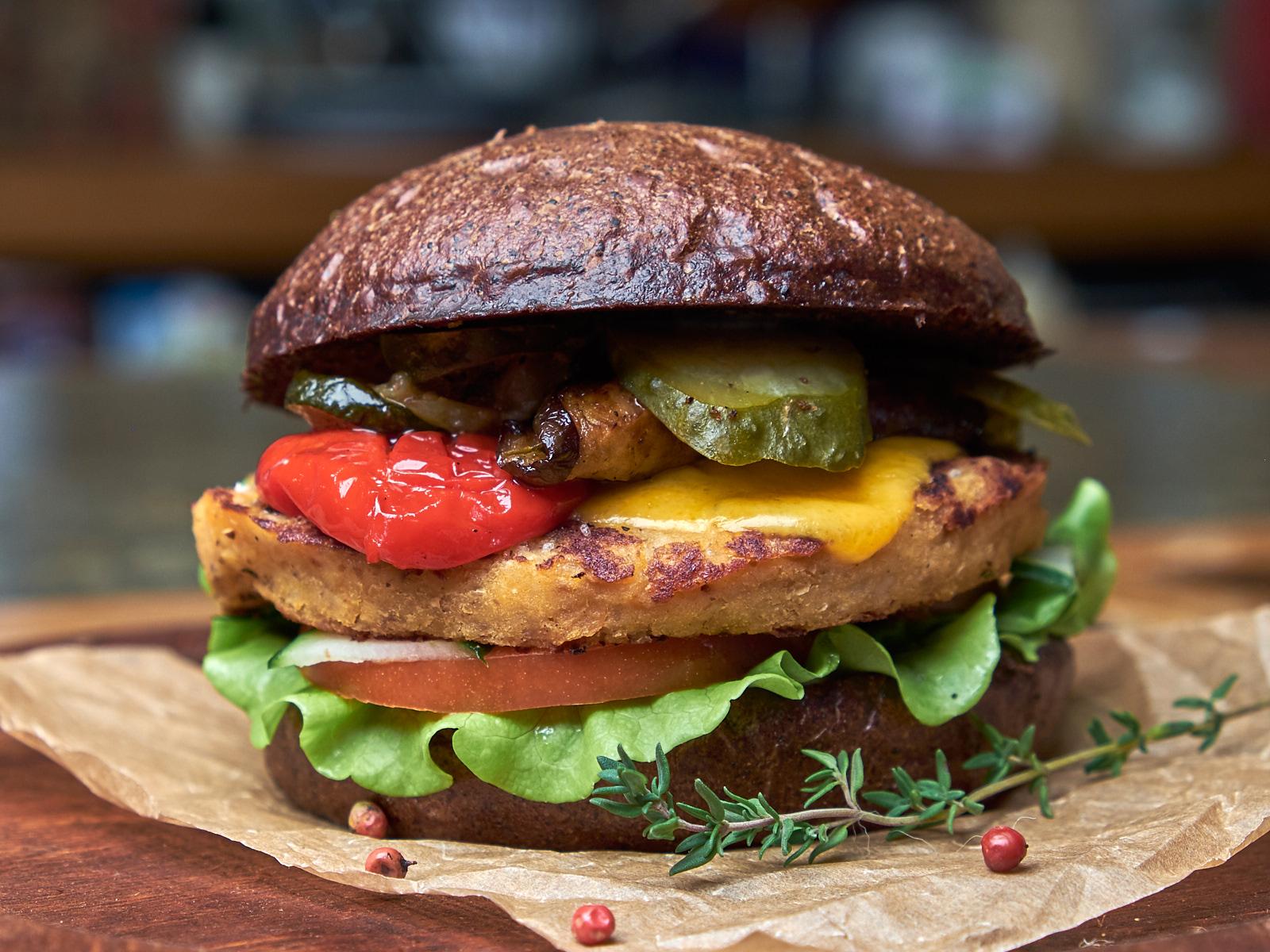 Бургер Вегетарианский с котлетой из нута