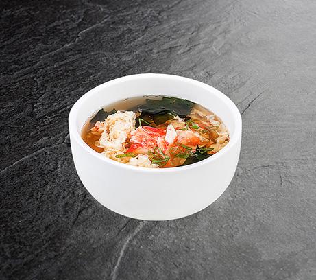 Суп с мясом камчатского краба