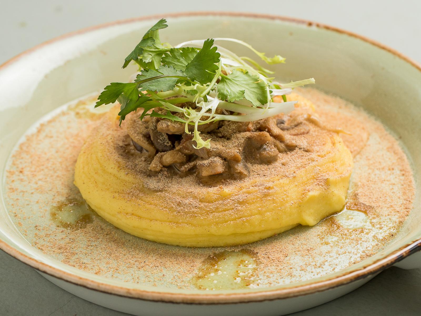 Папарделли с белыми грибами и трюфельным маслом