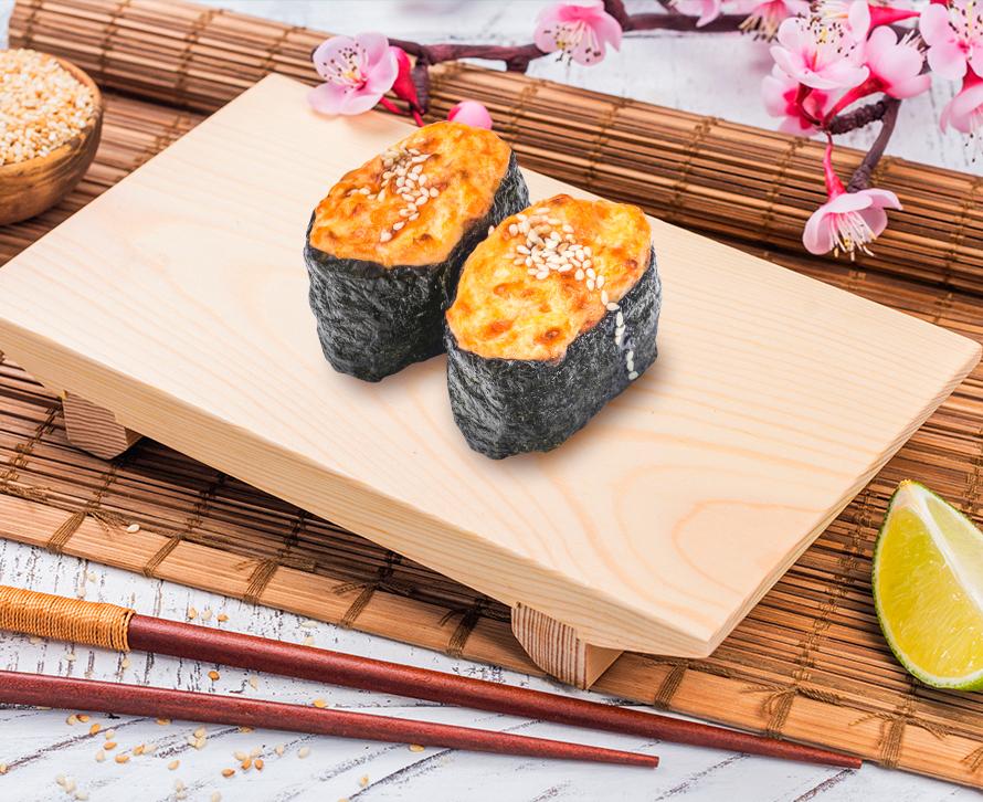 Суши запеченные с креветкой (2 шт.)