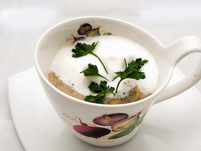 Суп-капучино из шампиньонов