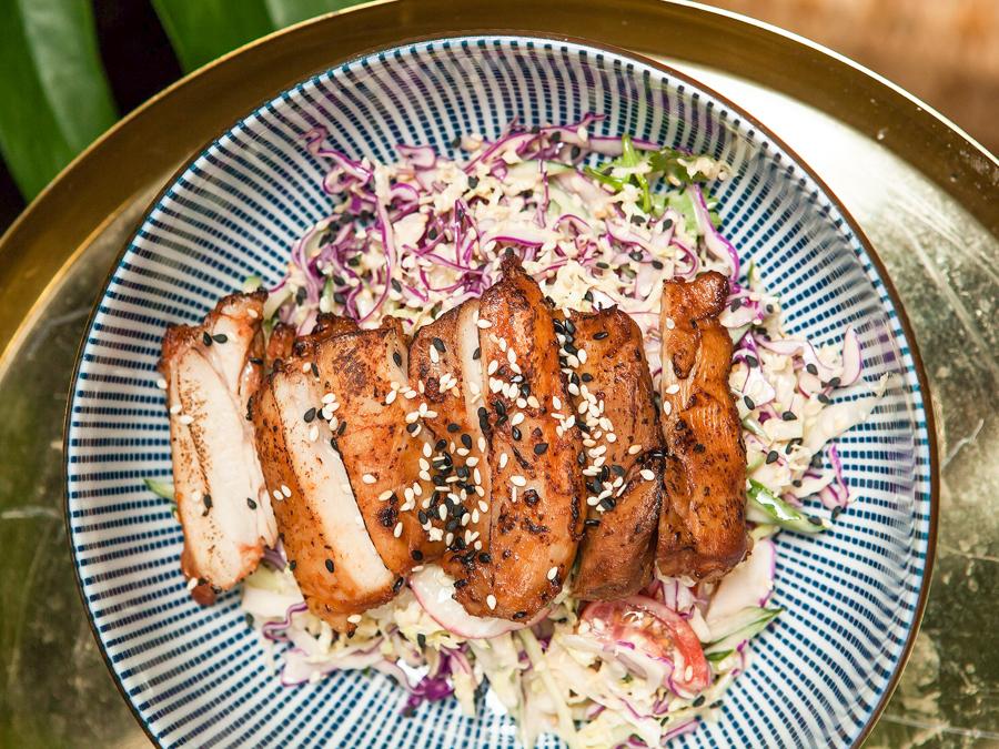 Китайский салат с цыленком