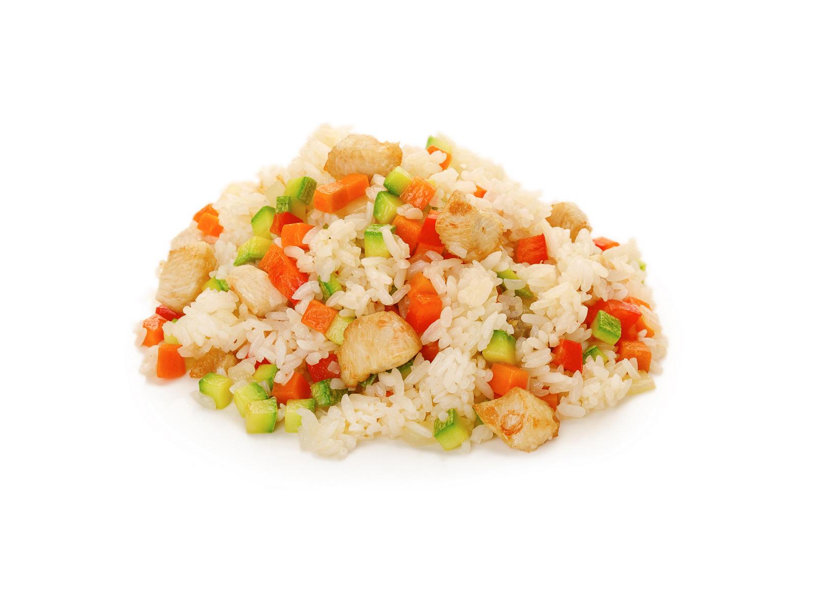 Рис жареный с курицей
