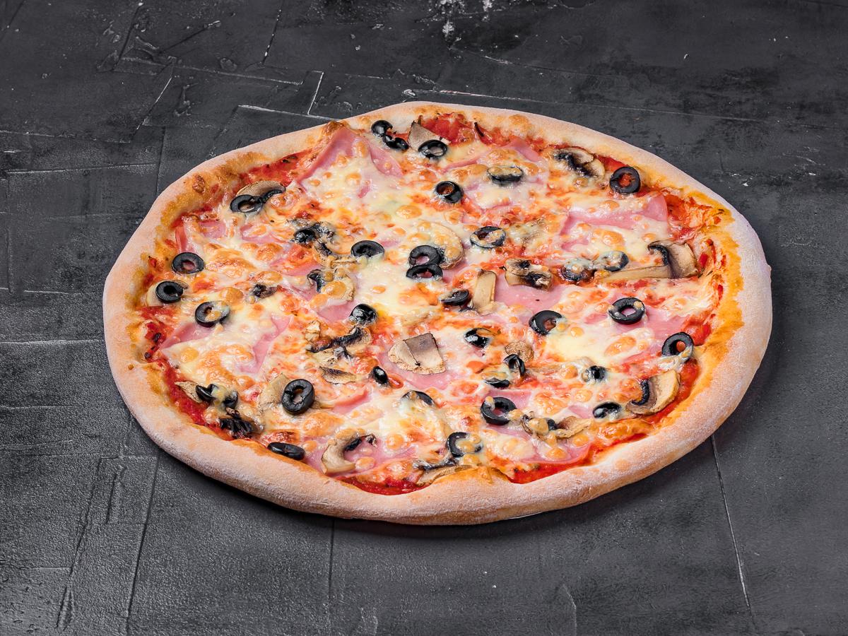Пицца Грибы и ветчина