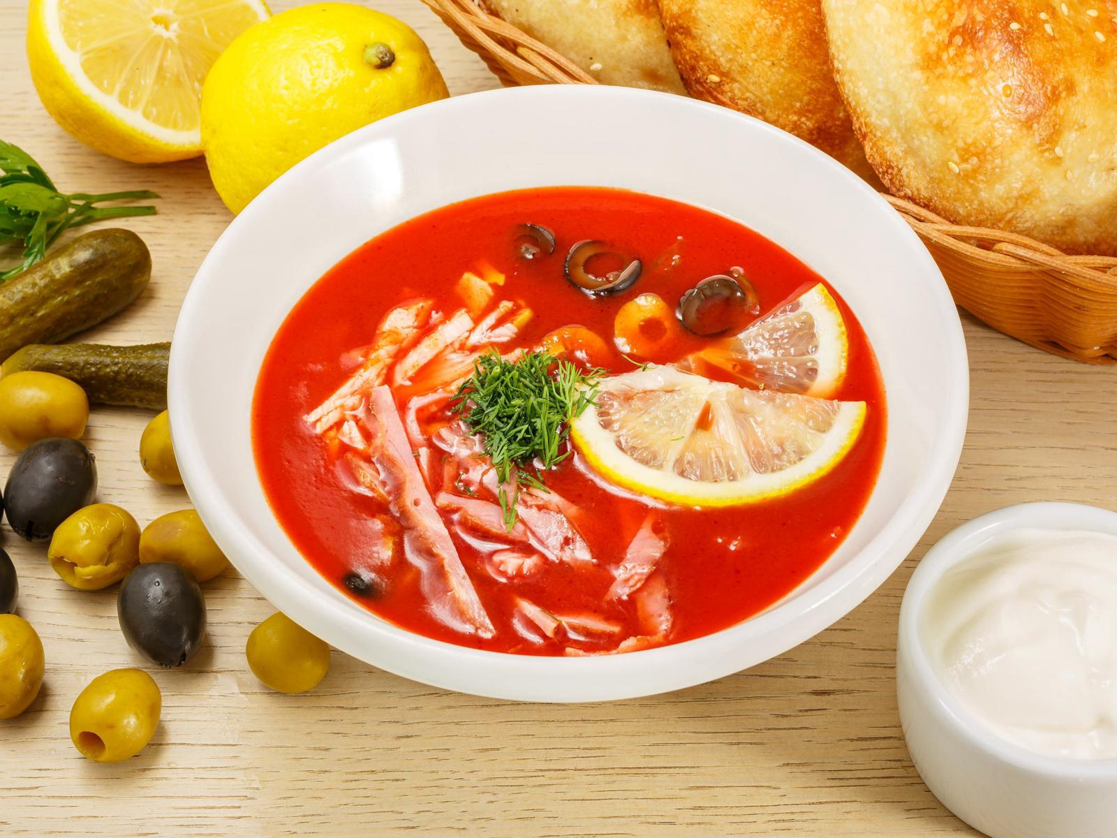 Суп Фирменная мясная солянка